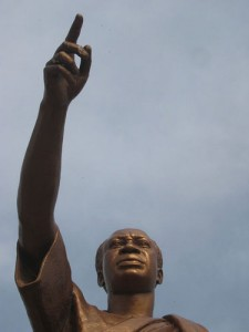 Statue of Nkrumah at the Kwame Nkrumah Memorial Park, built in 1992 after the restoration of multi-party democracy in Ghana. (Used under the terms of the Creative Commons Attribution-Noncommercial-Share Alike 2.0 Generic license (http://creativecommons.org/licenses/by-nc-sa/2.0/deed.en).)